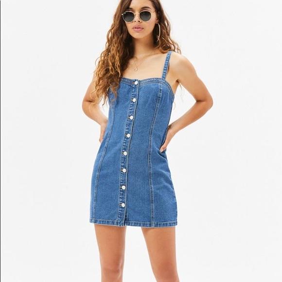 1cc1575bfa PacSun Dresses | Button Front Denim Dress | Poshmark